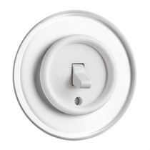 Toggle switch / traditional / white