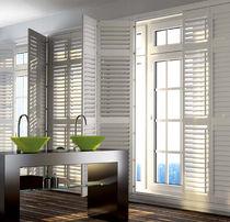 Louvre shutters / folding / wooden / window