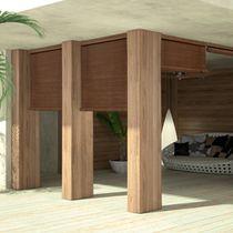 Roller blinds / wooden / outdoor