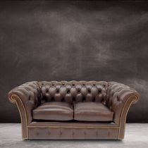 Chesterfield sofa / leather / 2-seater / 2.5-seater