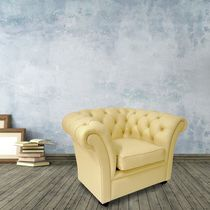 Chesterfield armchair / leather