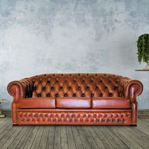 Chesterfield sofa / leather / 3-seater
