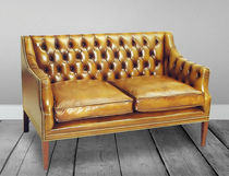 Traditional sofa / leather / 2-seater / 3-seater