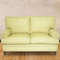 Traditional sofa / leather / 2-seater