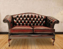 Classic sofa / leather / 2-seater / 3-seater