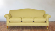 Traditional sofa / fabric / brass / 3-seater