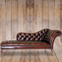 Chesterfield daybed / leather / indoor