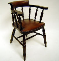 Traditional chair / upholstered / with armrests / wooden