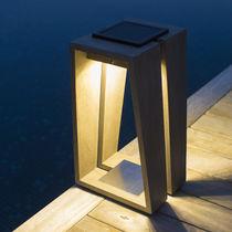 Portable lamp / contemporary / teak / lantern