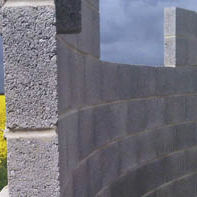 Lightweight concrete block / solid / for load-bearing walls / high-resistance