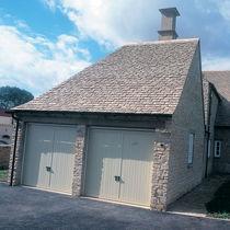 Flat roof tile / traditional look / slate look
