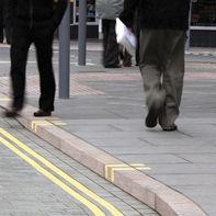 Sidewalk edge / granite / linear