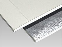 Reinforced plasterboard / with aluminum vapor barrier