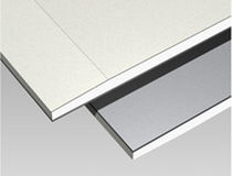 Reinforced plasterboard / with lead sheet