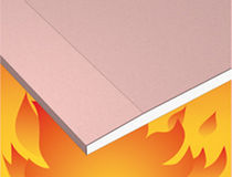 High-resistance plasterboard / fire-retardant