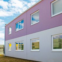 Facade sandwich panel / for walls / concrete facing / insulating core