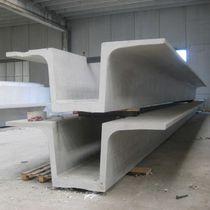 Precast concrete beam / with symmetrical section / I / double T