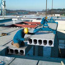 Prestressed concrete deck slab / for ceilings / for roofs / alveolar