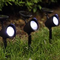Floor-mounted spotlight / garden / LED / round