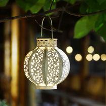 Solar lamp / pendant / traditional / metal