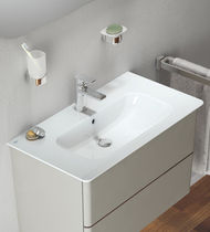 Countertop washbasin / rectangular / contemporary / with adjustable mirror