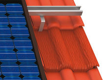 Tiled roof mounting system / on-roof / solar collector