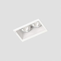Recessed downlight / halogen / rectangular / sheet steel