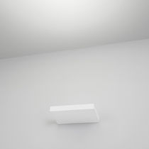 Contemporary wall light / aluminum / LED / rectangular
