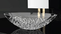 Countertop washbasin / oval / crystal / contemporary