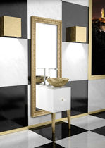 Wall-hung washbasin cabinet / wooden / design
