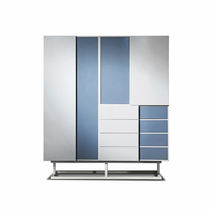 Modular wardrobe / contemporary / metal / MDF
