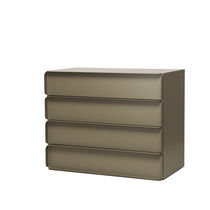 Contemporary chest of drawers / lacquered MDF / aluminum / by Studio Nendo