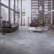 Outdoor tile / for floors / porcelain stoneware / plain