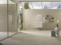 Indoor tile / for floors / porcelain stoneware / plain