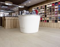 Ceramic floor covering / commercial / high-gloss / marble look