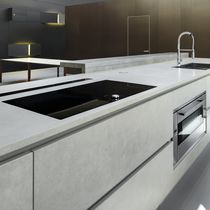 Interior fitting decorative panel / for kitchens / ceramic / smooth