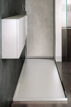 Rectangular shower base / Corian® / flush