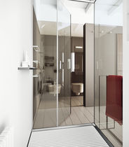 Swing shower screen / for alcoves / corner