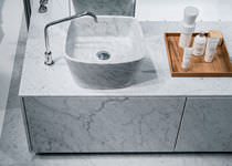 Countertop washbasin / Solid Surface / marble / contemporary
