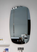 Wall-mounted bathroom mirror / magnifying / contemporary / oval