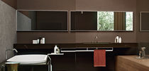 Wall-mounted bathroom mirror / contemporary / rectangular