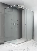 Sliding shower screen / for alcoves / corner