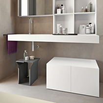 Double vanity top / glass / Corian®
