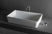 Countertop washbasin / rectangular / Solid Surface / contemporary