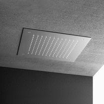 Recessed ceiling shower head / square / waterfall / with chromotherapy
