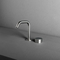 Washbasin mixer tap / built-in / stainless steel / bathroom