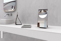 Table bathroom mirror / magnifying / contemporary / rectangular