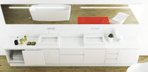 Double washbasin cabinet / wall-hung / Corian® / contemporary