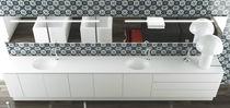 Wall-mounted bathroom mirror / illuminated / contemporary / rectangular