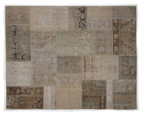 Oriental rug / contemporary / patchwork / wool